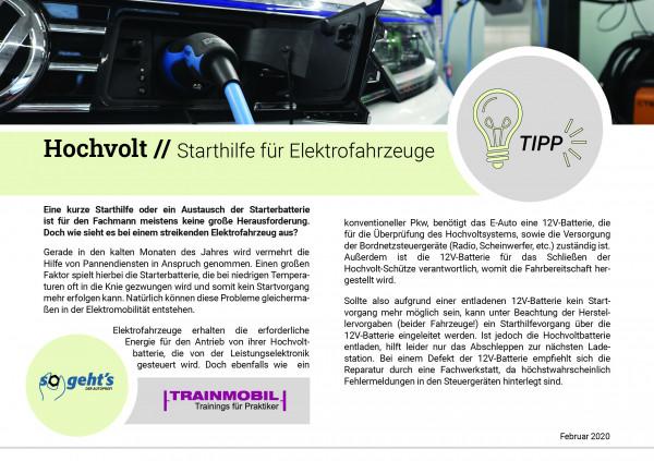 So geht´s Tipp - Starthilfe für Elektrofahrzeuge