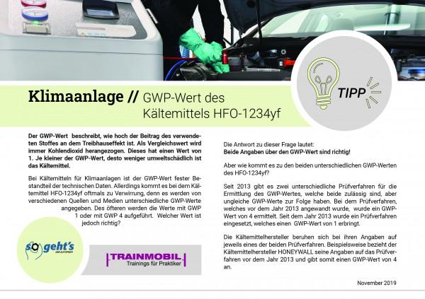 So geht´s Tipp - Klimaanlage - GWP-Wert des Kältemittels HFO-1234yf