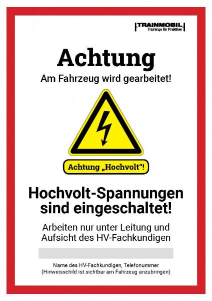 Formular Warnschilder HV